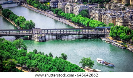 Shutterstock Sena from the Eiffel tower