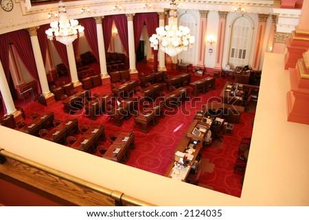senate floor of california...