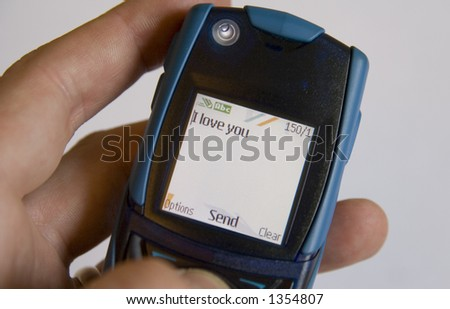 Sending a cellular phone SMS message to a loved one