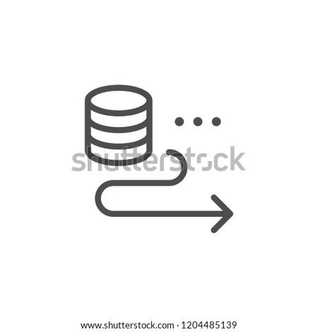 Sending money line icon isolated on white