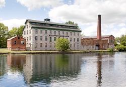 Seneca Falls mill and reflection