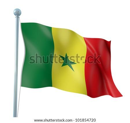Senegal Flag Detail Render