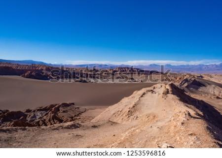 Senic views of Valle de la Luna. Atacama, Chile. #1253596816