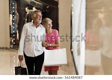 Senior Adult Couple Shopping Lifestyle