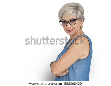 Senior Adult Woman Confidence Self Esteem Portrait #588368420