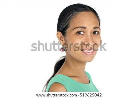 Senior Adult Woman Smiling Happiness Portrait Concept #519625042