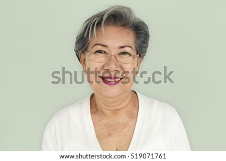 Senior Adult Women Smiling Happy Concept