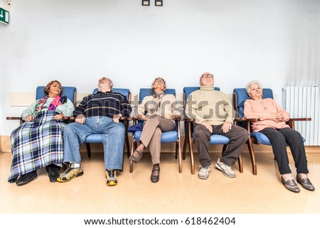 Senior adults in a nursing home for the elderly doing leisure activities #618462404