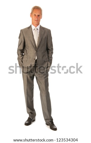 Senior business man isolated over white background