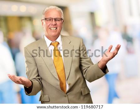 Senior Business Man Presenting, Indoor