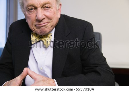Senior businessman looking at camera