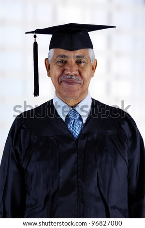 Senior citizen who has graduated from school