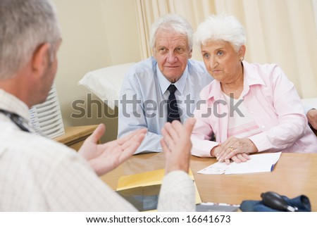 Senior couple in doctor's office