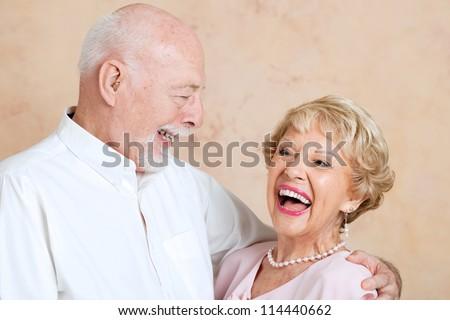 Seniors making love