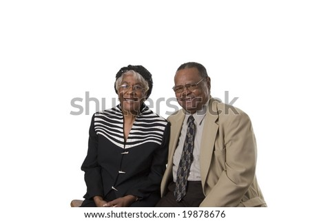 senior couple showing togetherness and happiness