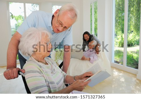 Senior couples relaxing together at Seniors' Living Community
