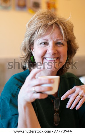 Senior Drinking Tea
