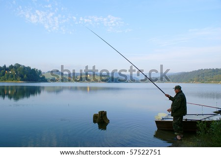 Senior fisherman