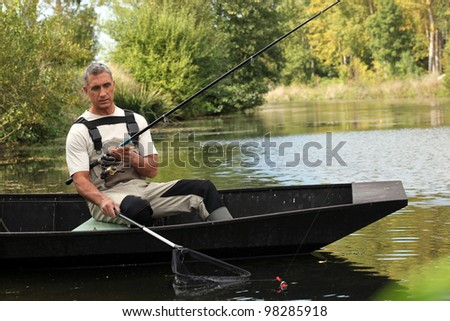 senior fishing