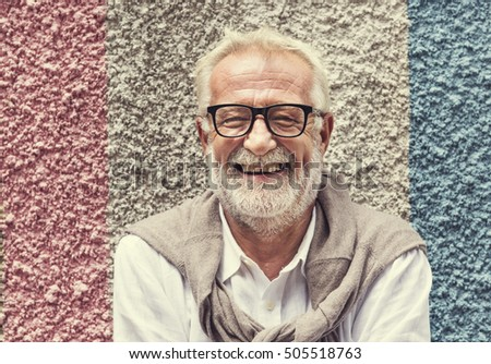 Senior Handsome Man Smiling Happiness Concept #505518763