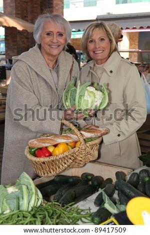 senior ladies at market