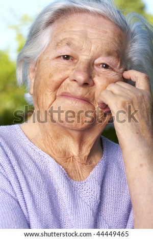 Senior lady. She is 93 year old at this picture.