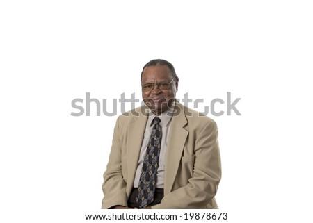 Senior male portrait looking at camera