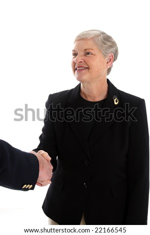 Senior Man and Woman Set Against A White Background