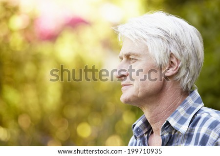 Senior man in garden #199710935