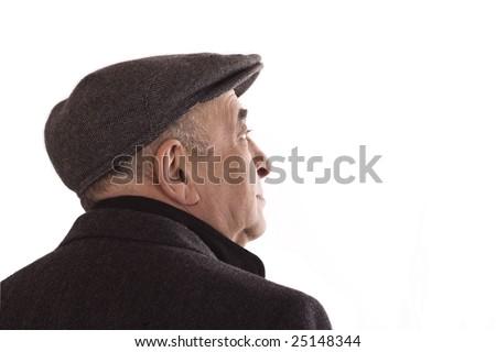 senior man looking up at the sky