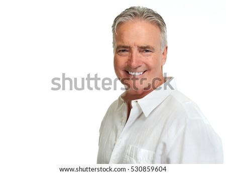 Senior man portrait. #530859604