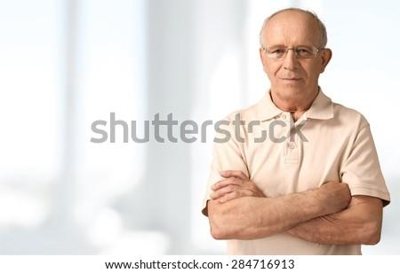 Senior Men, Isolated, Senior Adult. #284716913