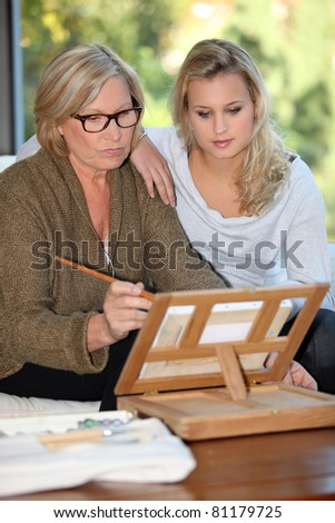 senior mother and daughter spending time together