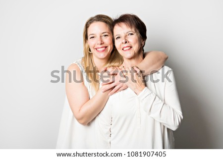 Senior mother with 40 years old daughter #1081907405