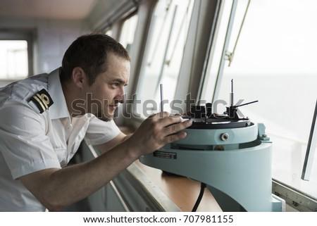 Senior Navigation Officer Doing Visual Navigation