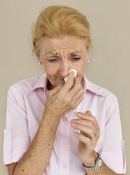 Senior Woman crying emotion portrait