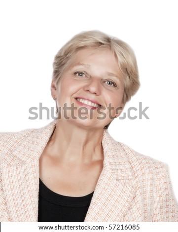 senior woman face