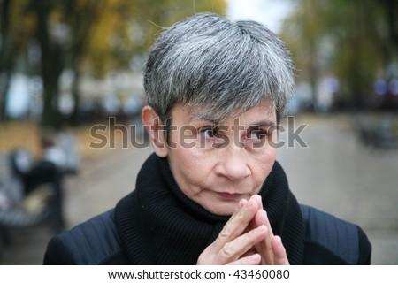 Senior woman going to start serious conversation