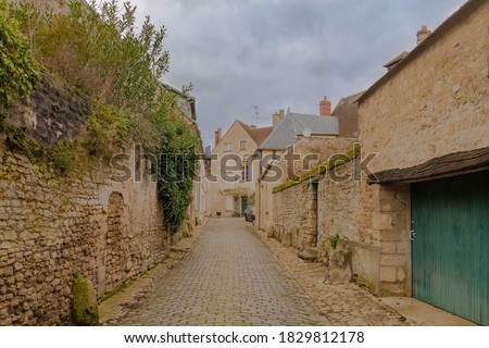 Senlis a small city in France Zdjęcia stock ©