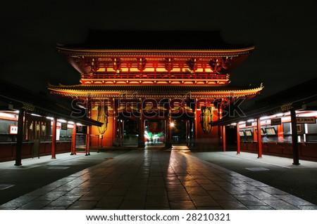 Sensoji Temple at night. Tokyo, Japan