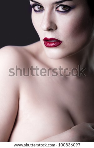 stock photo sensual beautiful nude brunette girl over dark backdrop caucasian woman 100836097 The flycatcher highlight, though, was this adult female Great Crested ...
