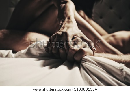 Sensual girl, ecstasy, orgasm. Nude woman, naked female, sensual woman, nude body. Sexy girl in lingerie. Girl masturbating. Erotica and underwear concept. Orgasm. Passionate concept. Hands concept.