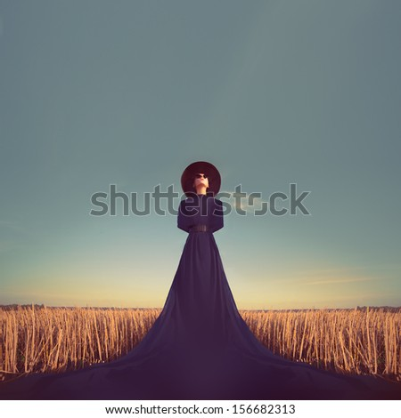 sensual portrait of a girl in a ...