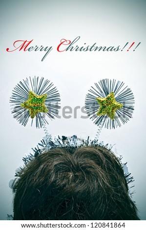 sentence merry christmas and a fun christmas hair band