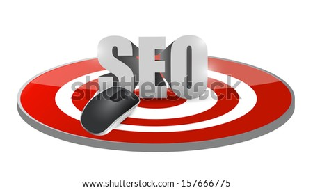 seo mouse target illustration design over a white background