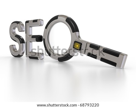 Seo Search Concept. symbol on a white