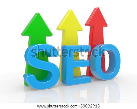 SEO - Search Engine symbol on a white background