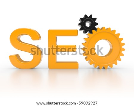 SEO - Search Engine symbol with gears