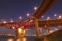 Seongsudaegyo Bridge - hangang river, seoul, korea