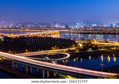 Seoul city night #166115747